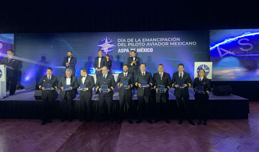 ASPA recognizes Mexican pilots for their work