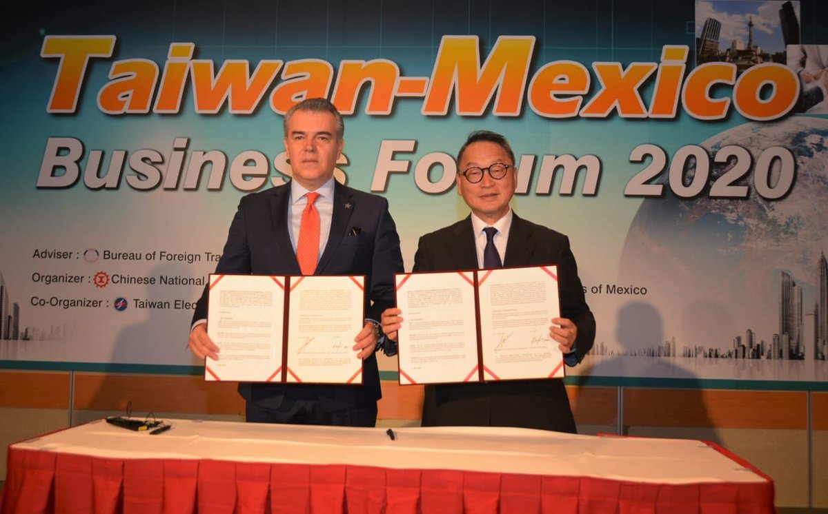 Mexico and Taiwan signed collaboration agreement to promote investment attraction