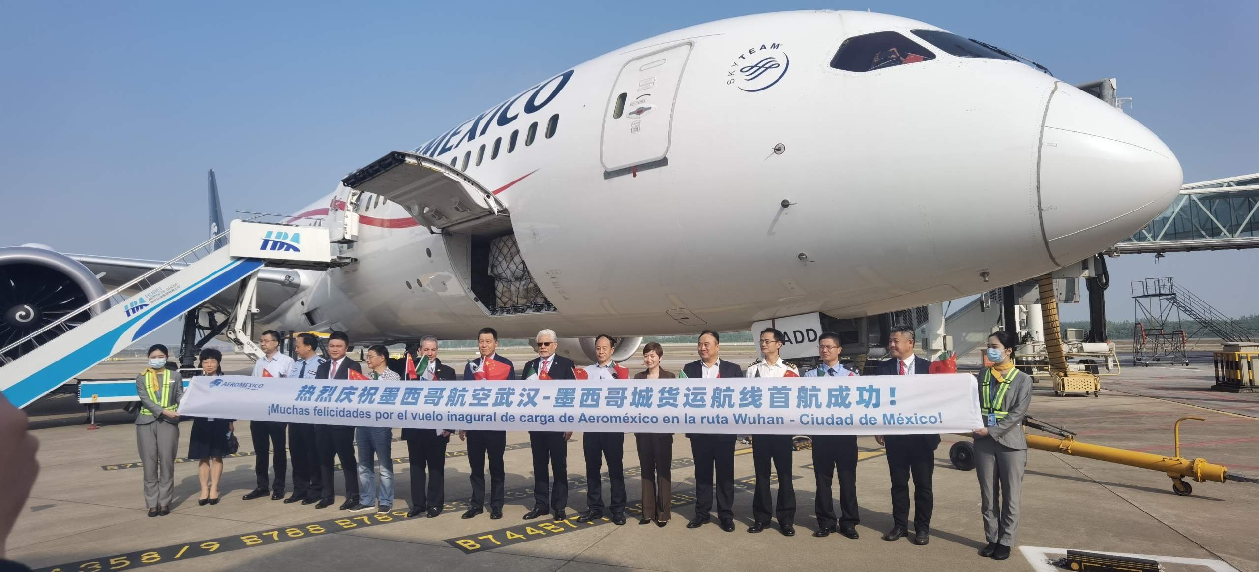 Aeromexico inaugurates route to Wuhan