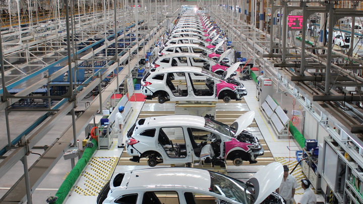 Automotive production in Mexico increases by almost 1000% in May