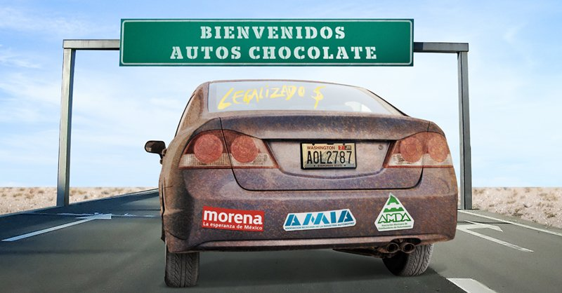 """AMLO to sign agreement to regularize """"chocolate cars"""""""